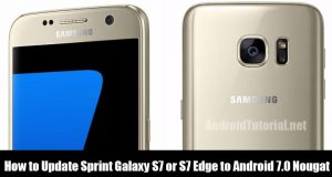 Update Sprint Galaxy S7 or S7 Edge to Android 7.0 Nougat