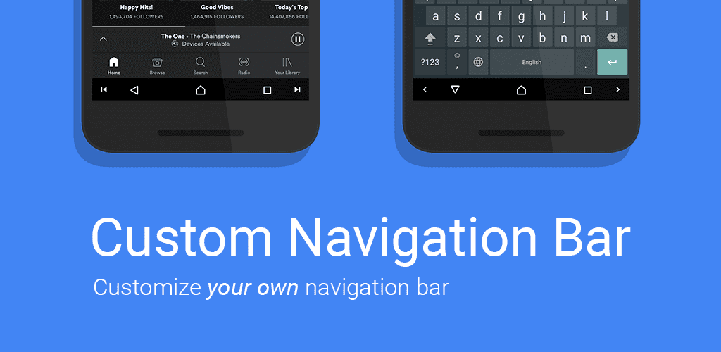 How to customize the nav bar in Android 7.X Nougat