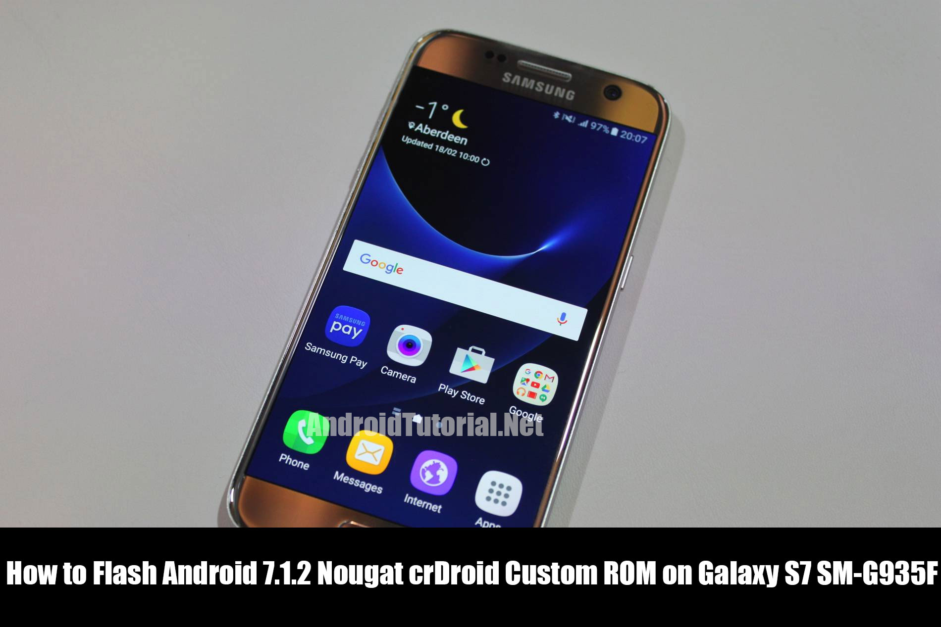 How to Flash Android 7.1.2 Nougat crDroid Custom ROM on Galaxy S7 SM-G935F