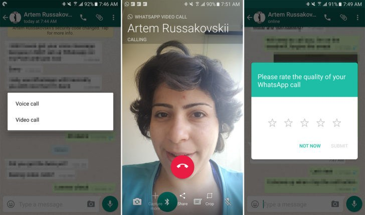 Download WhatsApp video calling APk