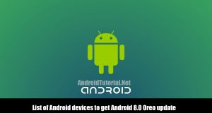 List of Android devices to get Android 8.0 Oreo update
