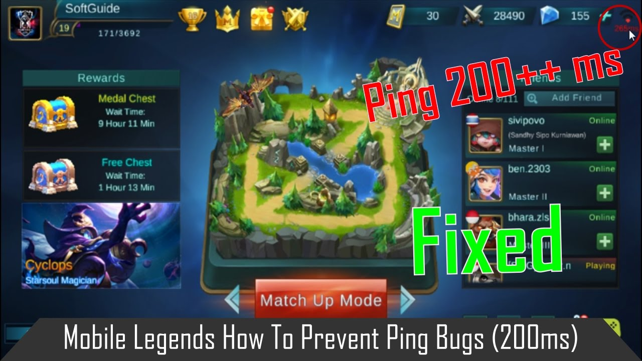 Fix Mobile Legends Bang Bang High Ping Issue