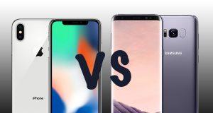 iPhone X versus Galaxy S8