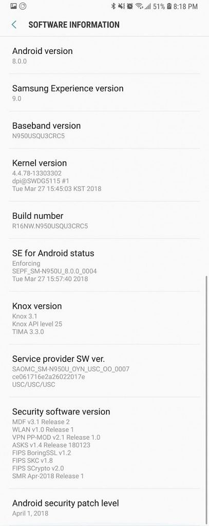 Android Oreo April Security Patch
