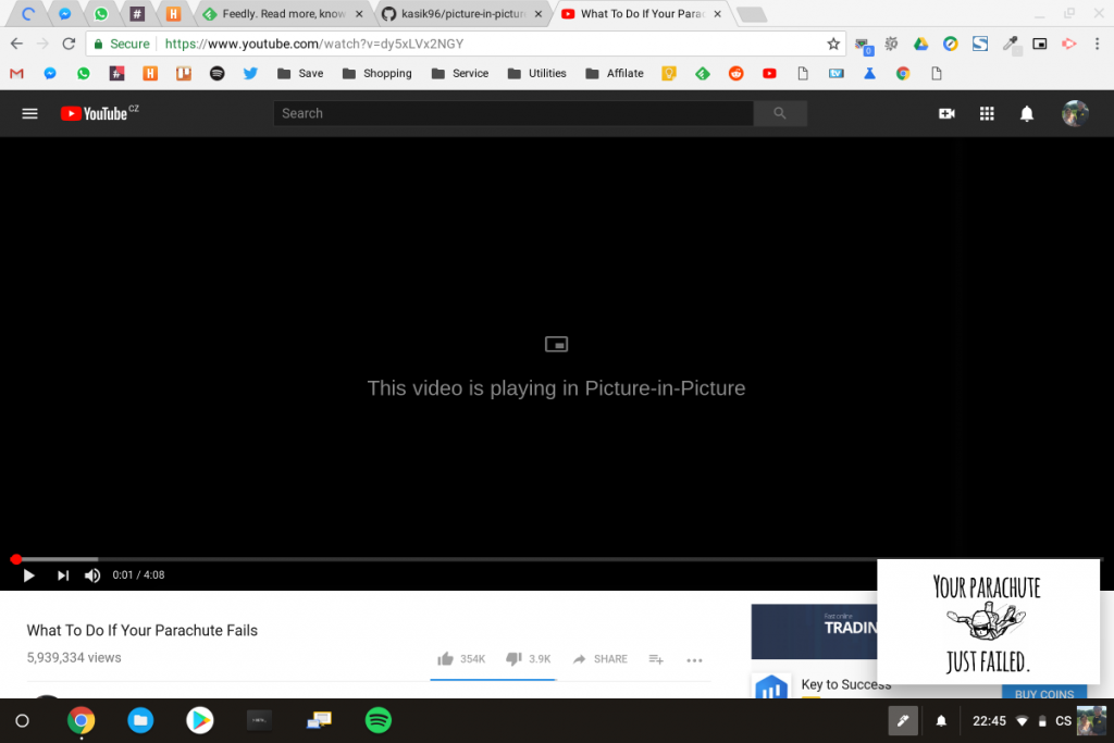 Enable Picture in Picture Mode on Desktop Google Chrome