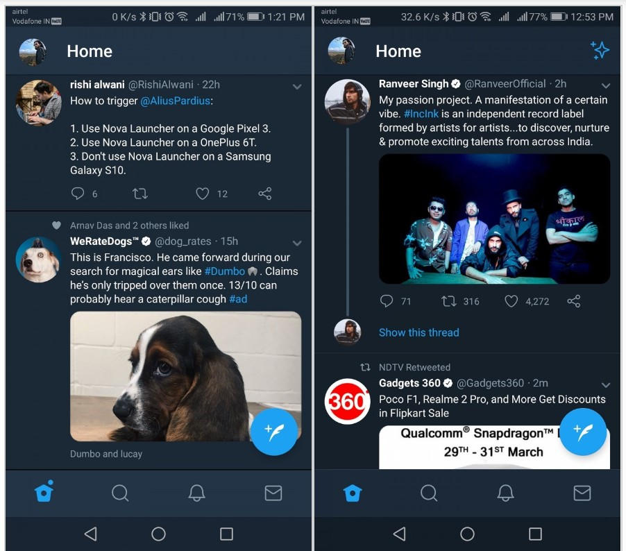 twitter pure dark mode
