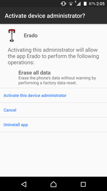 Delete Android Phone Data without Internet Connection