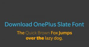 download OnePlus Slate Font