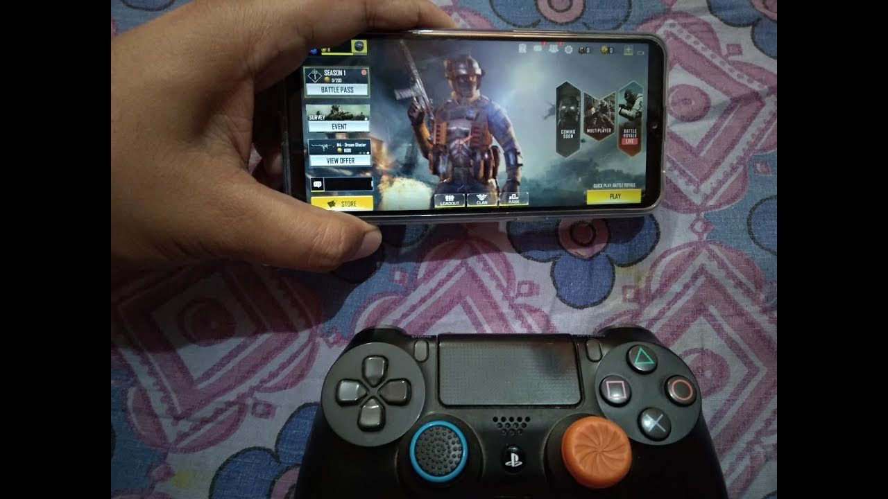 play Call of Duty Mobile with PS4